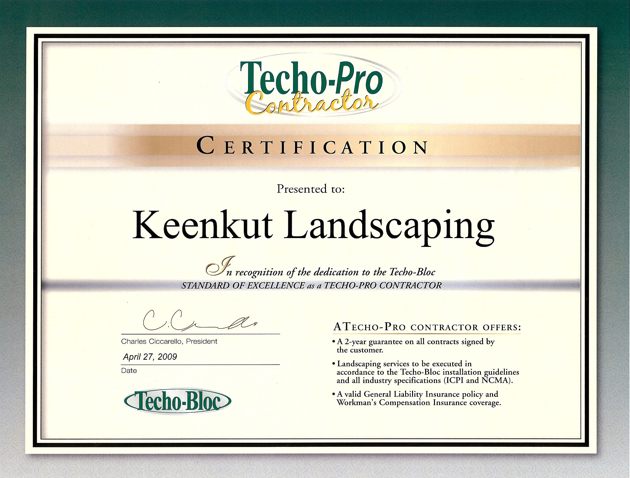 Pavers Trees Keenkut Landscaping Springfield Massachusetts Ma